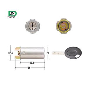 MIWA(美和ロック) JN RAシリンダー MCY-184  85RA シルバー色|f-secure