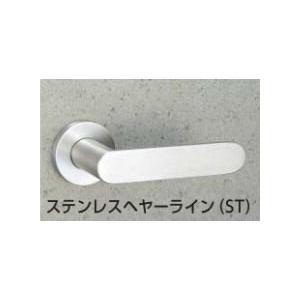 MIWA LA用 55番レバーハンドル ST色(ステンレスヘヤーライン) 扉厚33〜41mm対応|f-secure