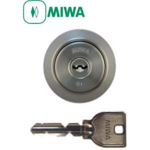 MIWA(美和ロック) U9 LA(DA)シリンダー (扉厚33〜42mm対応 シルバー色) 在庫あり|f-secure