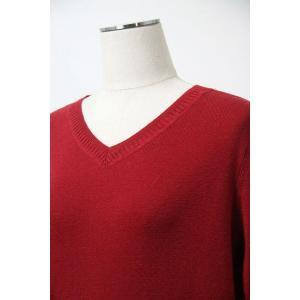 シビリゼ 40サイズ 綿カシミヤVネックセーター16204-65 AWLKN  lady* f-shop1975