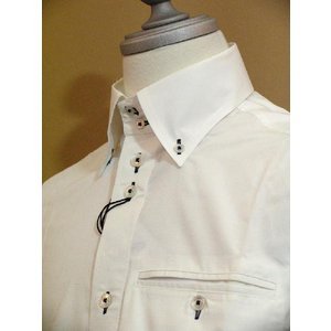 SS35%OFF◆f-shop◆ヴィンチェレ★デュエボットーニドレスシャツ2111-0 LSH*M LSH*L|f-shop1975