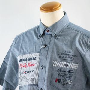 パジェロ M-Lサイズ半袖シャツ71-2102-07-49 HSH*M HSH*L|f-shop1975