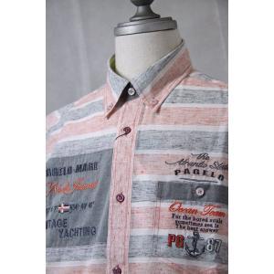 パジェロ 半袖シャツ 81-2129-07-33 HSH*L HSH*2L|f-shop1975