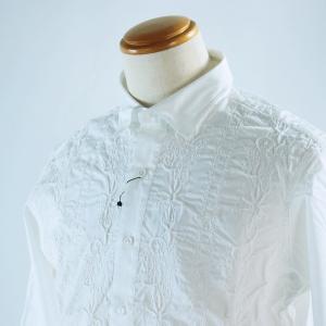 SS30%OFF サンタフェ 52サイズ レース刺繍長袖シャツ85416-1 LSH*3L|f-shop1975