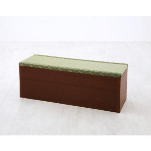 日本製 畳 ベンチ 幅90タイプ(1体) 畳ユニット 畳収納ボックス ユニット式 畳ボックス 収納畳 収納 収納ベンチ 長いす 収納椅子 ベンチ椅子 和風 和室 モダン|f-syo-ei