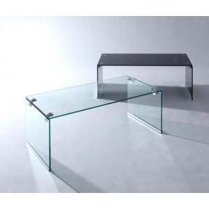 ガラスローテーブル ガラス ローテーブル テーブル 強化ガラス ガラス製 -レナ- カラー 黒 ブラック クリア 一人暮らし ワンルーム シンプル|f-syo-ei