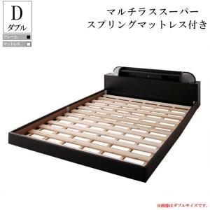 ベッド ダブルベッド フレーム マットレス付き フロアベッド ローベッド ダブルサイズ すのこベッド マルチラススーパースプリングマットレス付き|f-syo-ei