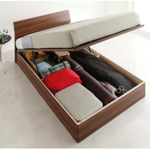 収納ベッド ガス圧式跳ね上げ ベット ベッド ベッド下収納 マットレス付き セミダブル 家具通販