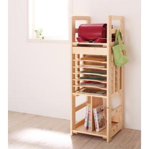 ランドセルラック 天然木 おしゃれ 北欧 木製 本棚 A4フラットファイル対応 家具通販|f-syo-ei