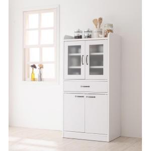 完成品 人気 新生活 かわいい ミドル食器棚 アンティーク 風 大容量 食器棚 幅58cm レンジボード キッチン収納 収納棚 ミストガラス 家具通販|f-syo-ei