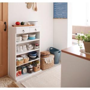 薄型キッチン収納 ラック 幅59cm コンパクト 大容量 キッチン用品 キッチン 収納 薄型 文庫本 本棚 木製 白 ホワイト 家具通販|f-syo-ei