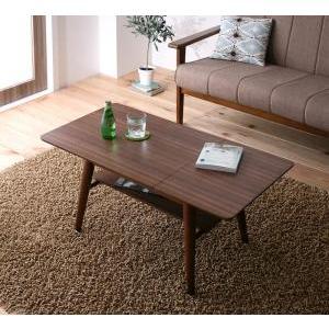 伸縮テーブル ローテーブル 伸長式 木製 センターテーブル リビングテーブル 北欧|f-syo-ei