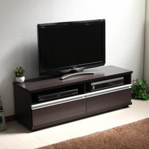 50インチ対応 テレビ台 テレビボード 120cm ロータイプ TV台 大型テレビ対応 ダークブラウン 収納 ローボード リビングボード おしゃれ|f-syo-ei
