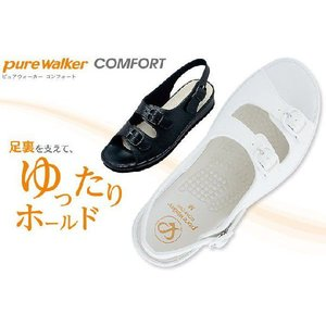 (B倉庫)Pure Walker ピュアウォーカー 7611 ナースサンダル オフィスサンダル レディースサンダル Daimatu PW7611|fa-core