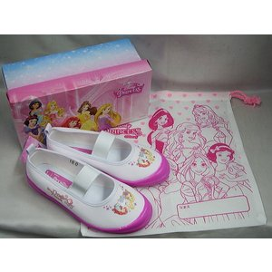(B倉庫)Disney ディズニープリンセス 6923 バレーシューズ スクールシューズ 上履き キャラクター キッズ 女の子 上靴 バレーシューズの画像