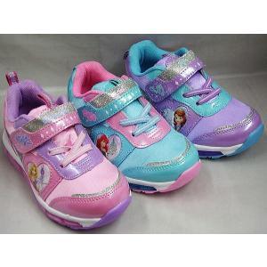(B倉庫)ディズニー 7102 7103 7104 ソフィア アリエル ラプンツェル 光る靴 子供靴 スニーカー キッズ シューズ 靴 女の子 キャラクター シューズ 靴|fa-core