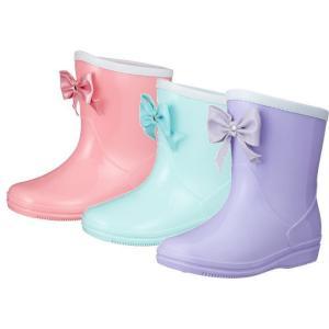 (A倉庫)GAME 538 子供長靴 レインシューズ レインブーツ キッズ ジュニア 女の子 リボン|fa-core