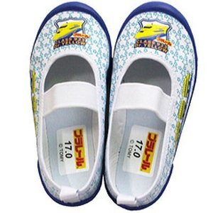 (B倉庫)PLARAIL プラレール 16134 上靴 ドクターイエロー 新幹線 バレーシューズ スクールシューズ キャラクター キッズ 上靴 上履き|fa-core