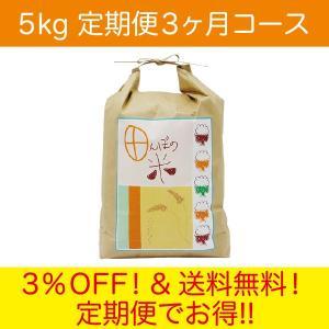 毎月お届け 田んぼの米 5kg  定期便3ヶ月コース|fabala