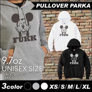 デザイン パーカー ブラック グレー ホワイト XS S M L XL  ユニセックス メンズ レディース スウェット キャラ パロディ FUKK プルオーバー|fabian
