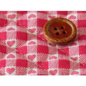 生地 50cm単位 キルティング リバーシブル ハート(濃いピンク) AQ-0071-1D [在庫共有品] 布 キルト|fabrichouseiseki