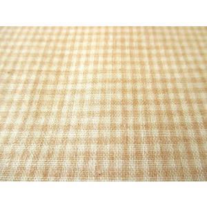生地 50cm単位 オーガニックコットン ダブルガーゼ 小ギンガムチェック R0529-NC-1 布  RZT|fabrichouseiseki