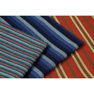 生地 50cm単位 和調 三川地木綿 ストライプ [在庫共有品] 45000 新色 和柄 布 綿 YTU|fabrichouseiseki
