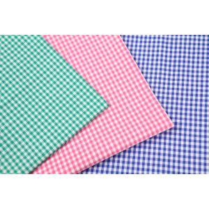 50cm単位 先染 ブロード 3.5mmギンガムチェック  G1001 [在庫共有品] 生地 布 綿|fabrichouseiseki