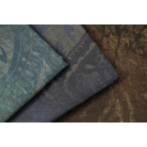 生地 1m単位 ダブルガーゼ ボタニカルペイズリー 40981 布 ルシアン/LECIEN Aura Collection N-YST【値下げ処分品】|fabrichouseiseki