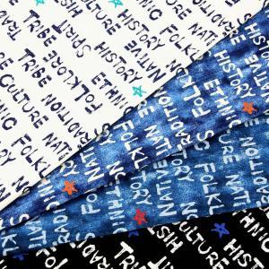 生地 1m単位 オックス デニム調英字 SP1950-1 布 コスモテキスタイル アルファベット 星 K-XST【値下げ処分品】|fabrichouseiseki