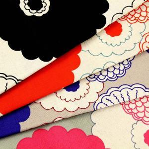 生地 1m単位 綿麻キャンバス 手描き風サークルフラワー UP-5614 布 コットンこばやし う早この布 花柄 コットンリネン お買得7/19 Q-WZT【値下げ処分品】|fabrichouseiseki