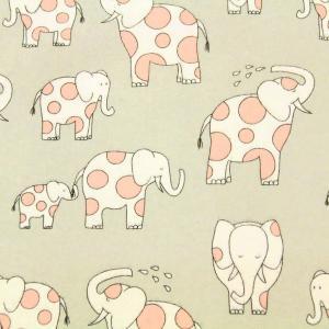 生地 1m単位 ネル 水玉ゾウさん CF7103 布 USAコットン Endearing Elephants I-9/19お買得|fabrichouseiseki