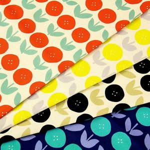 【ワンコインセール】生地 1m単位 オックス ボタンフラワー YK-61020-2 布 コッカ ナチュラルライフ チューリップ 花柄 J-VST|fabrichouseiseki