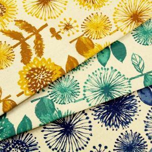【ワンコインがサンキュー価格に! セール】生地 1m単位 綿麻キャンバス トーン花柄 LO-41050-1 布 コッカ stripes J-VST fabrichouseiseki