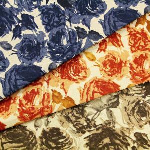【ワンコインがサンキュー価格に! セール】生地 1m単位 綿麻キャンバス ローズ柄 LO-41050-2 布 コッカ stripes 花柄 J-VST fabrichouseiseki