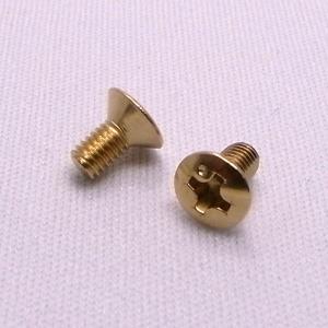 【レバースイッチ取付用ビス PS-06】+丸皿ネジ(3×6)  ゴールド(12入)|factorhythm