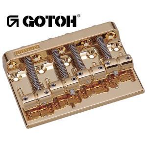 ゴトー【GOTOH】ベースブリッジ4弦 201B-4(ゴールド)|factorhythm