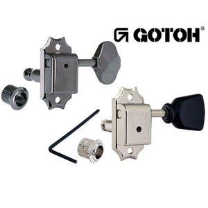 ゴトー【GOTOH】クルーソンタイプ ギターペグ SD90-スタンダード軸(ニッケル) ツマミ:05M/05MA/SL/06M/SLB|factorhythm