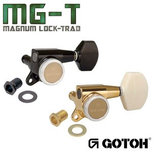 ゴトー【GOTOH】ギターペグ SG381-マグナムロックトラッド(ブラッククローム) ツマミ:AB07 factorhythm