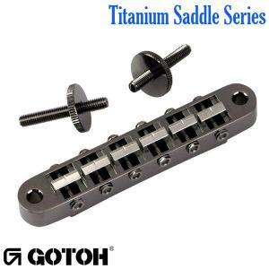 ゴトー【GOTOH】レスポールタイプ ギターブリッジTi103B チタニウムサドル(ゴールド)|factorhythm