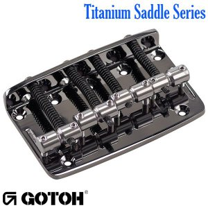 ゴトー【GOTOH】ベースブリッジ4弦 Ti203B-4チタニウムサドル(ゴールド)|factorhythm
