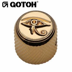 ゴトー【GOTOH】アートコレクション コントロールノブ(ホルスの眼)VK-Art-01(ブラッククローム)|factorhythm