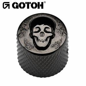 ゴトー【GOTOH】アートコレクション コントロールノブ(スカル)VK-Art-02(ブラッククローム)|factorhythm