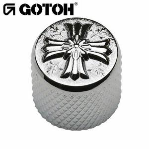 ゴトー【GOTOH】アートコレクション コントロールノブ(クロス)VK-Art-03(ブラッククローム)|factorhythm