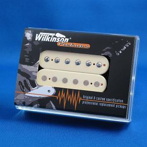 Wilkinson ハムバッキング ギターピックアップ/WHCLV-F フロント オープンフェース(ブラック/クリームリング)|factorhythm