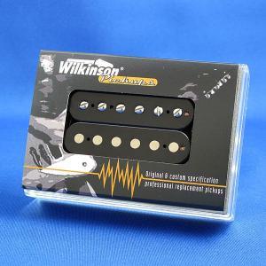 Wilkinson ハムバッキング ギターピックアップ/WHCLV-R リア オープンフェース(ブラック/クリームリング)|factorhythm