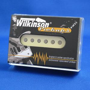 Wilkinson シングルコイル ギターピックアップ ストラトキャスター/WHS-M ミドル (ブラック/ホワイト/クリーム)|factorhythm