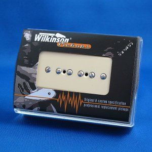 Wilkinson P-90 (ソープバー)ギターピックアップ/WP90-F フロント (ブラック/クリーム)|factorhythm