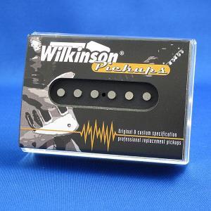 Wilkinson シングルコイル ギターピックアップ テレキャスター/WT-B リア オープンフェース(ブラック)|factorhythm