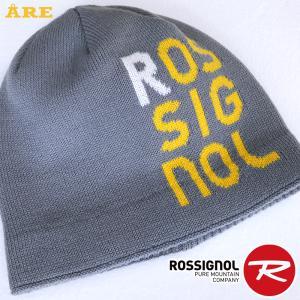 ROSSIGNOL ロシニョール スキー帽子 ニット帽 ニットキャップ 男女 メンズ レディス 防寒 厚手 グレー factory-are
